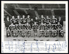1952-53 Hershey Bears Hockey (AHL) Autographed Team Photograph with Adam Brown