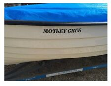 4 X Custom / Personalised Boat Name Decals / Stickers / Graphics, 25+ Colours