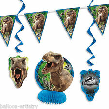 7 Piece Jurassic World Park Children's Birthday Party Room Decorating Pack Kit