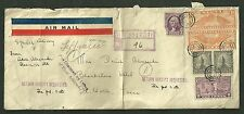 1935 Registered Cover Sent From Illinois To Fort Worth Texas Air Mail