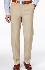 NEW RYAN SEACREST 33x32 MENS COTTON SLIM FIT KHAKI FLAT FRONT DRESS PANTS $79.95
