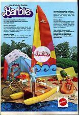 Barbie--Werbung von 1977-- Campingset-- Mattel-