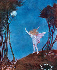 Ida Rentoul Outhwaite Fairy roping the moon vintage art
