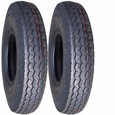 """2) 4.80-12 480-12 4.80x12 480x12 12"""" Tires 6ply for Boat Camper Utility Trailer"""