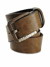 "Diesel Leather BOMBA Belt in Dark Brown Size 100/40"" $128 BNWT 100% Authentic"