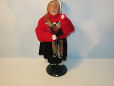 Byers Choice 1994  Talbots Girl with Scottie Dog Sweater Carrying Skates