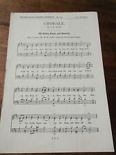 VINTAGE SPARTITI MUSICALI 1939 chorale J S Bach tutti GLORIA esagerate & Onore