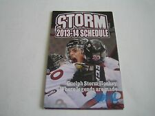 2013/14 OHL GUELPH STORM POCKET SCHEDULE***ONTARIO HOCKEY LEAGUE***