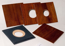"1  LENS BOARD 4x4"" ""C"" for GRAFLEX ANNIVERSARY SPEED GRAPHIC - MDF/walut veneer"