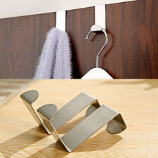 2pcs Stainless Steel Kitchen Cabinet Draw Over Door Hook Clothes Hanger Holder