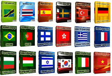 Language Courses 22 languages Set On 3 DVD Audio Disks  + Text Lessons PC DVD