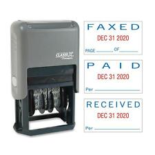 Shachihata Self-Inking Message Dater Paid/Faxed/Received Blue/Red 40330