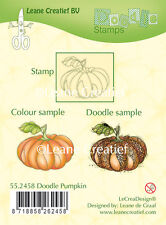 Leane Creatief - Clear Cling Rubber DOODLE Stamp  PUMPKIN 55.2458