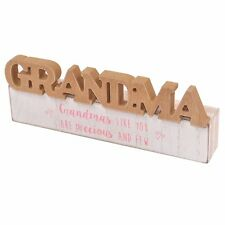 Grandma Sentiments From The Heart Word Block Plaque Lovely Gift Range