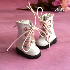 1/8 BJD Shoes Dollfie DREAM DIM DOD AOD SOOM LATI Boots Tiny white Shoes 3.5cm