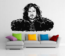 Jon Snow Wall Decal Game Of Thrones Movie Vinyl Sticker Art Decor Mural (26i)