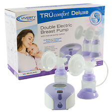 TRUcomfort Deluxe Double Electric Breast Pump with Manual Pump Option,Adjustable