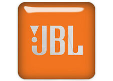 "JBL Orange 1""x1"" Chrome Domed Case Badge / Sticker Logo"