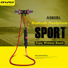 AWEI Wireless Bluetooth Headset Sport Stereo Headphone Earbud For iPhone Samsung