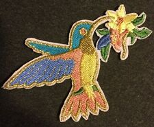 "Beautiful Shiny Bird Iron On Embroidered Applique Patch (3.5"") **USA SELLER**"