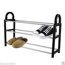 New 3 Tier Shoe Rack Storage  Organiser Shelf Boot Stand Unit Organizer