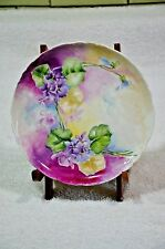 JPL Jean Pouyat Limoges Painted Porcelain Plate Flowers - 6""
