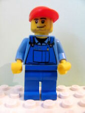 LEGO Minifig cty421 @@ Cargo Worker - Overalls Tools in Pocket Blue 60019 60022