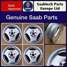 Genuine Saab 9-3 9-5 - SET of 4 - 15 INCH ALLOY WHEELS - BRAND NEW - 400111340