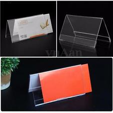 Sign Display Holder Price Name ID Card Table Desk Number Label Stand 150*80mm