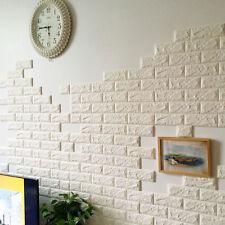 3D DIY Foam Stone Brick selbstklebende Tapete Wandaufkleber Panels Aufkleber DIY