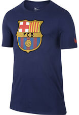 Nike FC Barcelona crest tee - adult small in navy