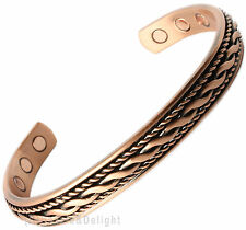 MAGNETIC BRACELET LADIES MENS BANGLE COPPER LINES BIO ARTHRITIS MAGNET THERAPY