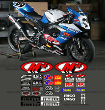 emgo race street track decal kit for 2006 2010 2011 2012 2013 gsxr bike