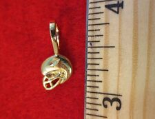 14KT GOLD EP SPORTS FOOTBALL HELMET PENDANT CHARM - 2422