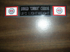 "DONALD ""COWBOY"" CERRONE (UFC) NAMEPLATE FOR SIGNED TRUNKS DISPLAY/PHOTO/PLAQUE"