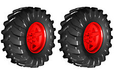 2 Lego TRACTOR Tires + Wheels (technic,tyre,tread,xerion,trac)