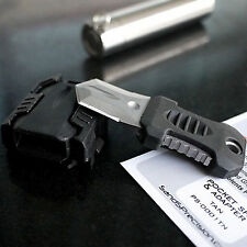 Tactical Gear Mini Stainless Knife Webbing Buckle Outdoor Camping Survival Tool