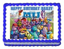 Monsters Inc. Monsters University edible image decoration party cake topper