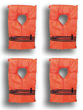 4 Pack Type II Orange Life Jacket Vest - Adult Universal Boating PFD USCG Appr.