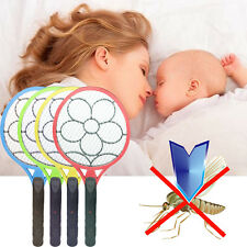 Cordless Electric Fly Insect Swat Swatter Bug Mosquito Zapper Killer Racket New