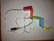 USB 2.0 4-port Hub Snake Colorful Square Folding - NEW