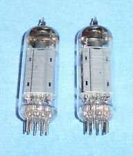 2 Type 12BH7A Vacuum Tubes - Vintage Halo Getter Audio Twin Triodes by RCA