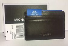 MICHAEL KORS Owen CARD CASE wallet FRID Credit GIFT Box BROWN LEATHER Mens NWT