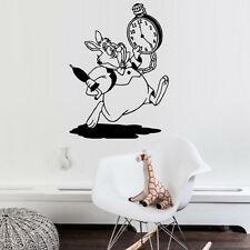 Wall Decal Alice in Wonderland Rabbit Time Watch Clock Have Ou Gone Mad M1471