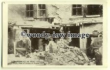 tp0585 - Durham - Bombardment of Rugby Terrace , West Hartlepool 1914 - postcard