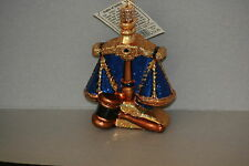 Scales of Justice Old World Christmas glass ornament