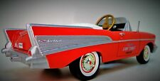 1957 Chevy Pedal Car Vintage Fire Chief Bel Air Hot Rod Sport Midget Metal Model