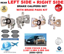 FOR FORD FOCUS II 2.5 ST RS 500 2008-2012 REAR LEFT + RIGHT BRAKE CALIPER + PADS