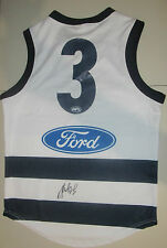 GEELONG - JIMMY BARTEL HAND SIGNED BACK OF JERSEY #3 - PHOTO PROOF/COA
