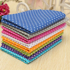 7pcs Multicolore Coton Tissu Patchwork Pois Coupons Joli Assorti DIY 50x50cm